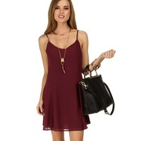 Burgundy Simply Amazing Flare Tunic