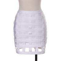 Cage Bandage Skirt White