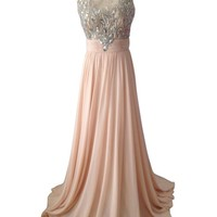 Voguelasposa Embroidery Beaded Evening Dress Prom Gown