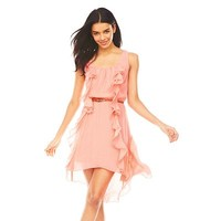 Lily Rose Ruffled Hi-Low Dress - Juniors