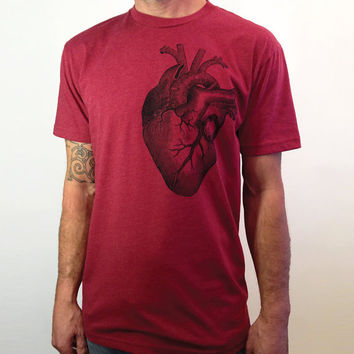 Valentine's Gift - For Him - Anatomical Heart T-Shirt for Men