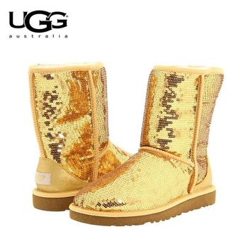 Ugg Boots  Classic Short Sequin Boot