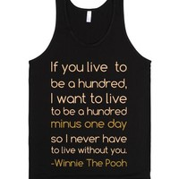 A Hundred Minus One Day-Unisex Black Tank