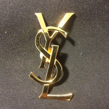 YSL Brand New Yves Saint Laurent Pin Brooch 2.5 inches