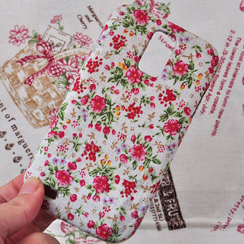 Fabric art cloth phone case for T-mobile Samsung Galaxy S2 (Samsung T989)  with flower
