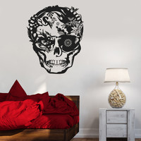Vinyl Decal Skull Horror Tribal Decor Teen Room Wall Stickers (ig2643)