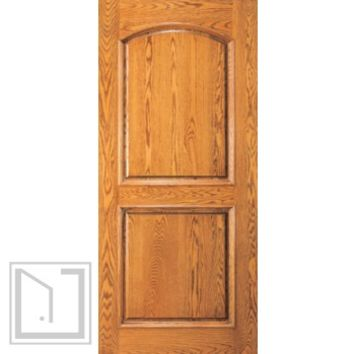 Home Mahogany Wood Arch 2 Panel Traditional Colonial Single Door