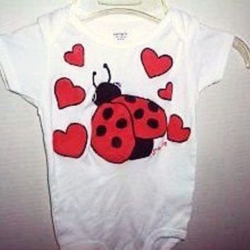 Ladybug Infant Bodysuit - Handmade Crafts by Splashin