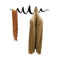 Squiggle Coat Hanger in Black