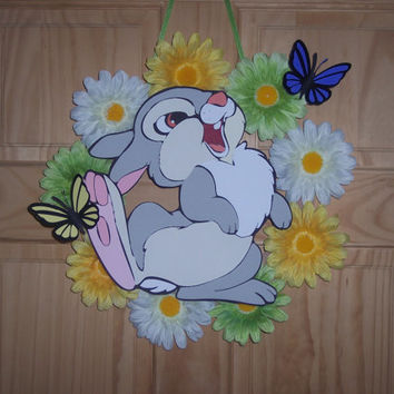Bambi's Thumper Floral Spring / Summer wreath