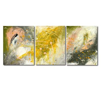 """'Fall feelings'  - 48"""" X 20"""" Original Abstract  Art. Free-shipping within USA & 30 day return Policy."""