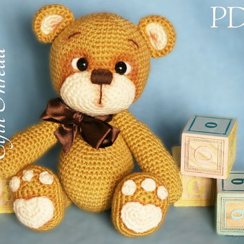 Elfin Thread - Teddy Bear Amigurumi PDF Pattern ( Bear crochet PDF pattern)