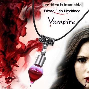 Blood Drip Necklace Vampires Cosplay Costume Accessories Halloween Costume For Women Horrible Fancy Black Choker Necklace Gift