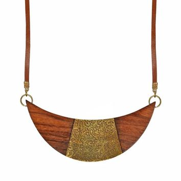 Earth & Fire Cresent Necklace- Fair Trade