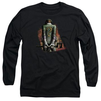 Arkham City - Riddler Convicted Long Sleeve Adult 18/1 Officially Licensed Shirt