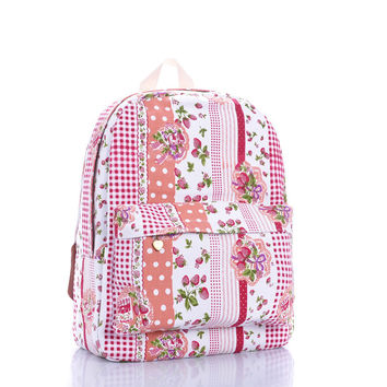 Canvas Pastoral Style Backpack = 4887870788