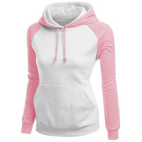 Fashion stitching hooded sweater