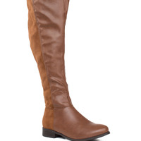 Rowena Knee High Boots - Tan