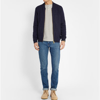 Oliver Spencer - Stitched Wool-Blend Cardigan | MR PORTER