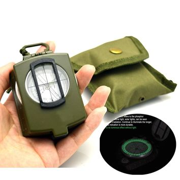 CAMTOA Professional Multifunction Military Army Metal Sighting Compass High Accuracy Waterproof Compass Metal American military Compass