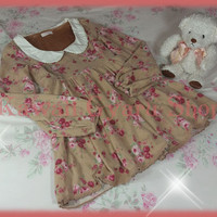 Liz Lisa Floral Fleece Baby Doll Dress
