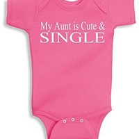 Lil Shirts My Aunt Is Cute & Single Baby Bodysuit