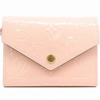 Louis Vuitton Vernis Victorine M62428 Wallet Purse Pink 4370