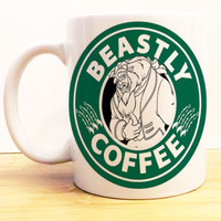 Beastly Coffee Mug |  Beauty and the Beast Starbucks |  Disney Prince