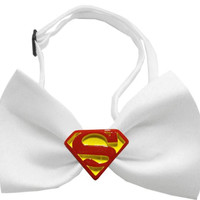 Traditional Super Chipper White Bow Tie