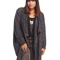 Marled Chunky Open Cardi | Wet Seal+