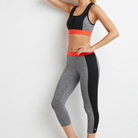 Marled Colorblock Capri Leggings