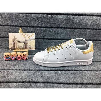 Adidas Originals Stan Smith Shoes Junior Version Of Sneakers White / Gold