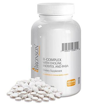 [Pack of 2] Bronson Labs: B-complex with Choline, Inositol and Paba (100 Tablets) Each