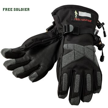 FREE SOLDIER Outdoor sports riding mountain climbing fishing gloves, wear-resistant insulated water-resistant gloves