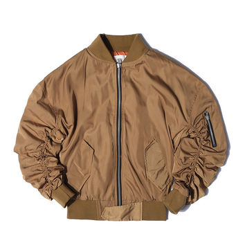 New FEAR OF GOD FOG JUSTIN BIEBER High street Men Clothes Clothing Mens jackets kanye west pilot flight satin ma1 bomber jacket