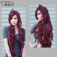 "Cosplay Wigs USA™  Curly 90cm/36"" - Burgundy -00320"