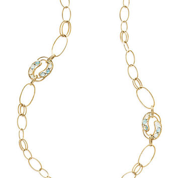 Ippolita 18K Rock Candy Cluster Link Necklace in Midnight Rain