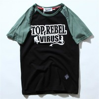 Short Sleeve Summer Round-neck Casual T-shirts [10713510147]