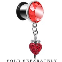 00 Gauge Red Gem Sword and Paved Heart Steel Plug