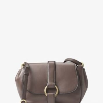 Quincy Medium Leather Saddlebag | Michael Kors