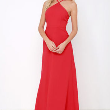 Tour de Force Red Maxi Dress