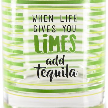 When life gives you limes add tequila Glass / Tea Light Holder