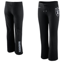 Nike Oakland Raiders Women's Tailgater Logo Fleece Pants - Black