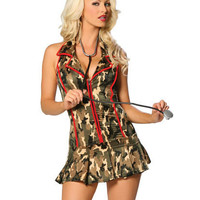 Nurse Camouflage Cosplay Anime Cosplay Apparel Holloween Costume [9211523524]