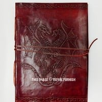 Handmade Celtic Pentacle Dragon Leather Diary Journal Notebook on RoyalFurnish.com