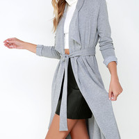 The Fifth Label Sanctuary Heather Grey Belted Coat