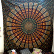 Medallion feather tapestries bohemian bedsheet wall decor hanging dorm curtain Mandala Tapestry