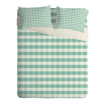 Caroline Okun Icy Gingham Sheet Set Lightweight