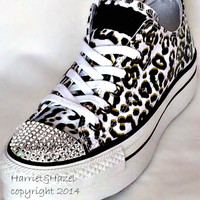 Converse Chuck Taylor® All Star® Platform in Cheetah print with Swarovski  crystal details 19ffacd4ae97