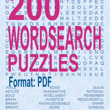 200 WordSearch Puzzles 6530928496998